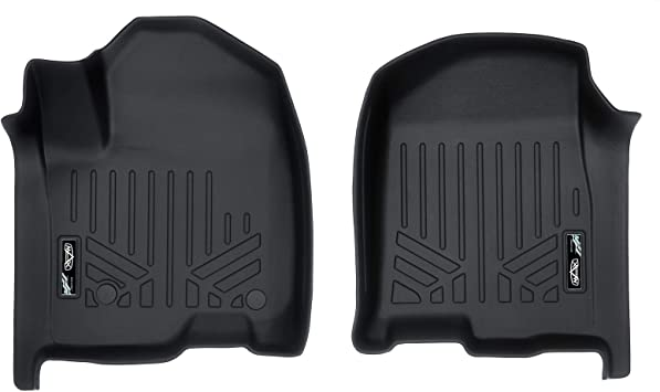MAX LINER A0400 Custom Floor Mats Liners Black for 2019 Silverado//Sierra 1500 Crew Cab with 1st Row Bench or Bucket Seats