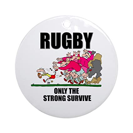 Amazon.com: CafePress Only The Strong Rugby Ornament (Round) Round Holiday  Christmas Ornament: Home & Kitchen - Amazon.com: CafePress Only The Strong Rugby Ornament (Round) Round