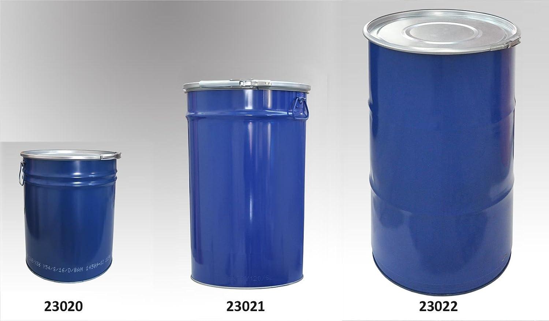 azul Metal abierto parte superior barril con Tapa y anillo de bloqueo 60/L 23021