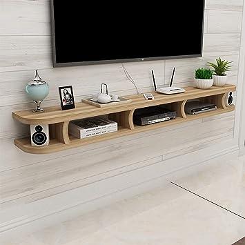 SCH Dormitorio Sala de Estar repisa Soporte para TV Soporte para TV enrutador WiFi descodificador Reproductor de DVD pequeño Altavoz Soporte para proyector Soporte para TV (Design : D, Size : 80CM):