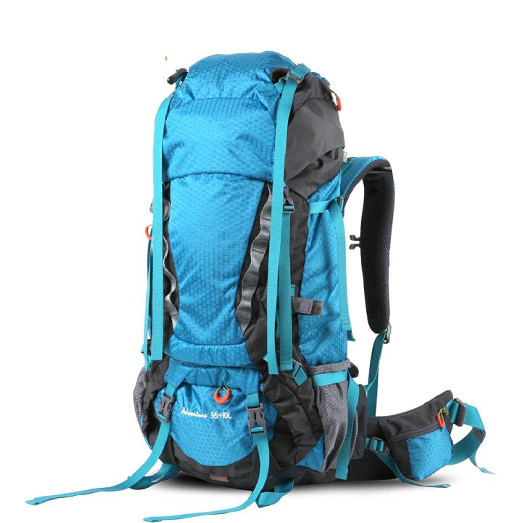 LISH Outdoor-Mode Wasserdichte Wandertasche für Männer und Frauen Casual Sporttasche (Farbe : Blau)