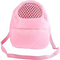 Pet Carrier Bags Hamster Rat Hedgehog Rabbit Sleeping Bag Breathable Portable Outgoing Travel Handbags Backpack With Shoulder Strap ( Color : Pink )