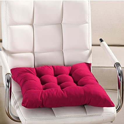 Wine Red : Chair Pads,Woopower Warm Square Candy Color Chair Seat Cushions  With Cord
