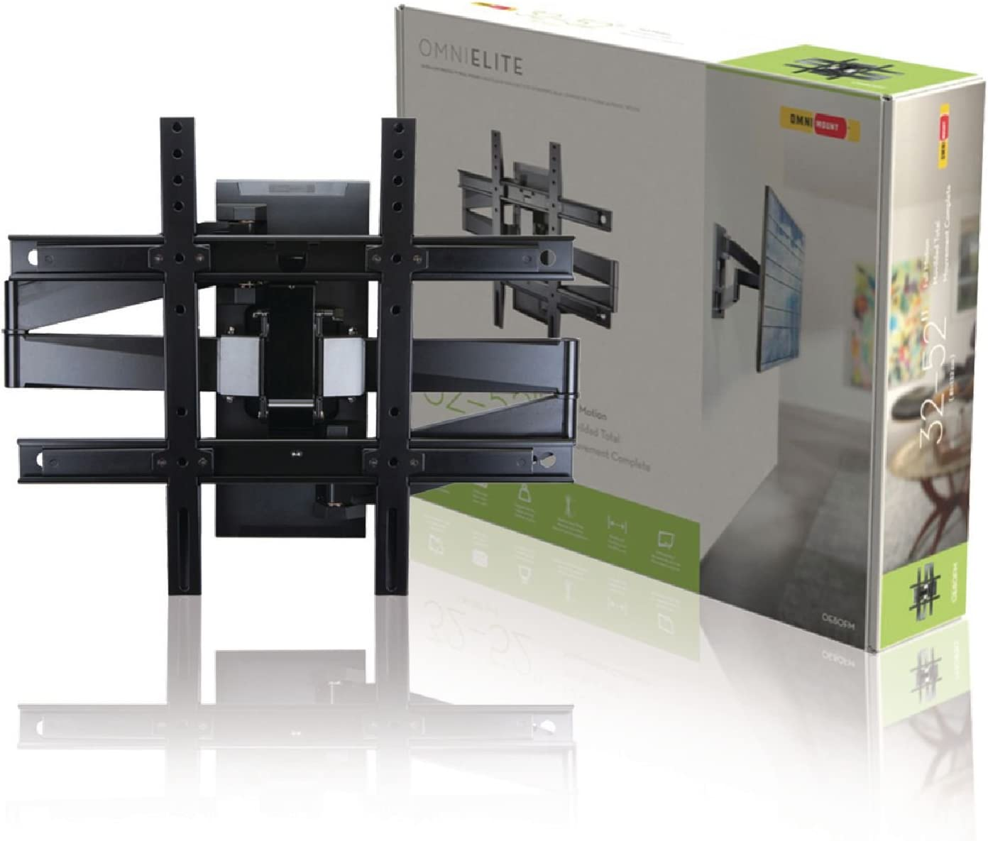 Omnimount Full Motion Wall Mount for TV Upto 32-52-Inch