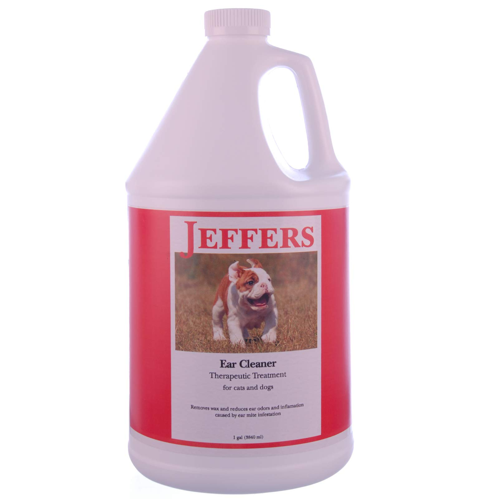 Jeffers Ear Cleaner and Therapeutic Treatment, Gallon by Jeffers