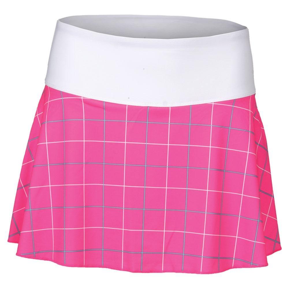 Fila-Women`s Windowpane Flirty Tennis Skort-(789482554736)