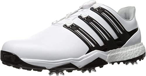 Adidas Powerband BOA Boost Golf Shoe, White, 8.5 M US: Buy Online ...
