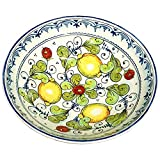 CERAMICHE D'ARTE PARRINI - Italian Ceramic Serving Bowl Centerpieces Art Pottery Dishware Hand Painted Decorated Lemons Made in ITALY Tuscan