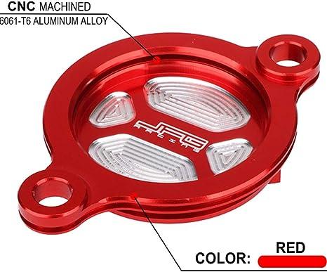/2008/CRF450/x 2005/ /2016/Rosso Fast Pro Moto Filtro dell Olio Tappo di Copertura per Honda CRF450R 2002/