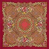 Pavlovo Posad Russian Shawl Pashmina Scarf Wrap Plus Size Red Wool 58x58