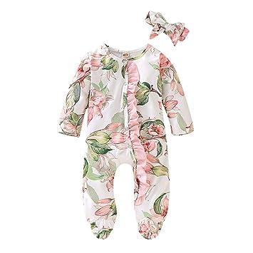 New Baby Boy Girl Fleece Sleep Suit Romper PJs Zip Up Front Feet Grips Sizes 0-2