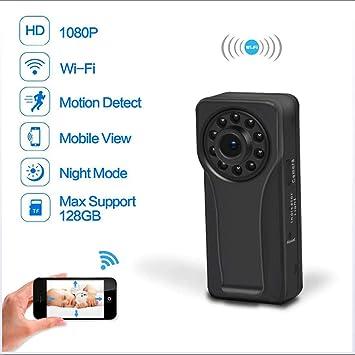 Mini Cámara Espía 1080P HD Infrarrojos Noche Visión IP Cámara Inalámbrica WiFi Cámara De Vigilancia Remotamente En Tiempo Real De Vigilancia Detección De ...