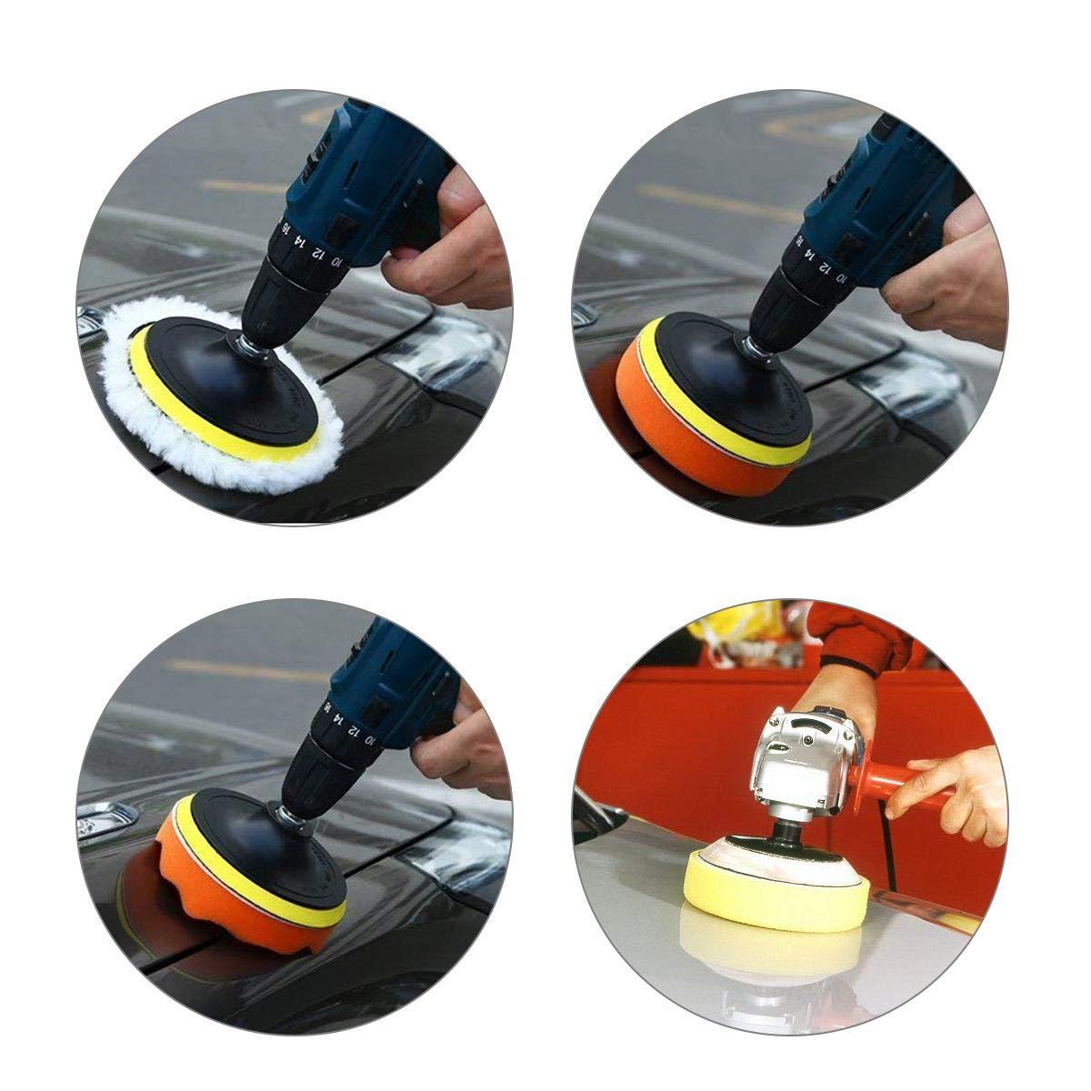 Tampons de polissage pour perceuse Aolvo complet 7,6/cm de voiture en mousse perceuse polissage Pad Kit compos/é de Professional perceuse /éponge de polissage Ensemble de coussinets pour voiture de pon/çage//polissage///épilatio