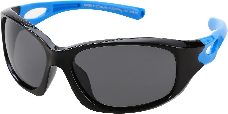 Fashion POLARIZED Sunglasses Rectangle Shades Kids Glasses Eyewear Girls Boys