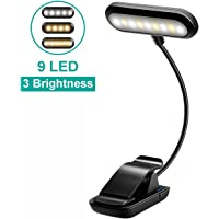 Book Light for Reading in Bed, Rechargeable Reading Light with 9 LEDs, Eye Protection Book Reading Light with Clip for…