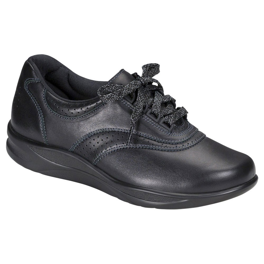 SAS Womens Walk Easy Low Top Lace Up Walking Shoes B018ZEJEJA ブラック 10 W Wide (C) US