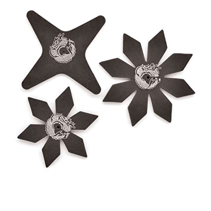 Amazon.com: Pack Of 3 Plastic Ninja Star Weapons: Bristol ...