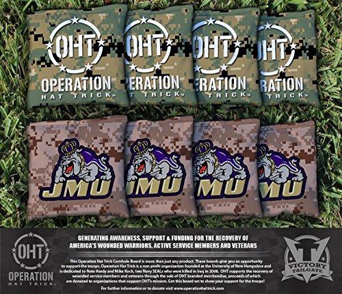 操作Hat Trick James Madison JMU Dukes Cornhole Bag Set ( Corn Filled )   B00NIWSB08