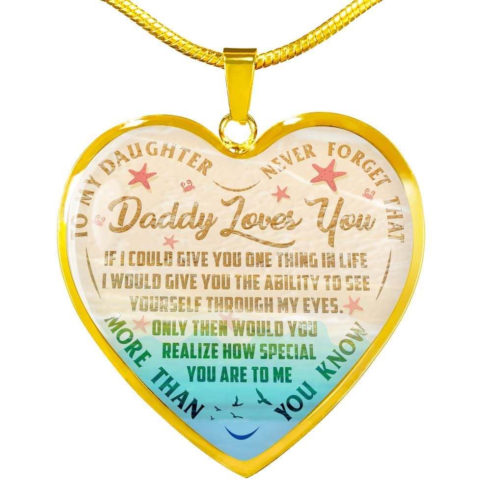 Daughter Necklace Father Daughter Necklace from Dad Anniversary Includes Gift Box! Luxury Necklace Silver On Birthday Daughter Gifts Fa Gifts to My Daughter Necklaces Pendants