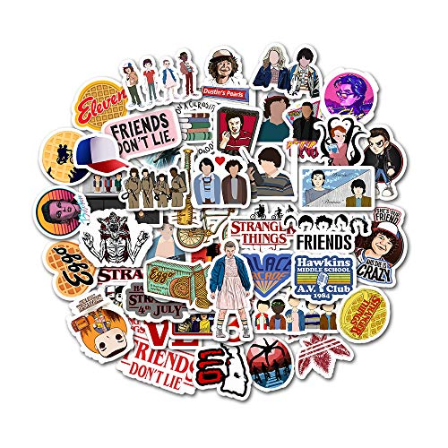 Stranger Things Stickers Pack(50 Pcs) Laptop and Water Bottle Decal Waterproof Vinyl Stickers for Te - http://coolthings.us