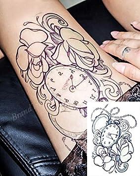 Extraíble Cuerpo Arte Tatuajes Temporales Pegatinas Reloj de bolsillo adhesivo de vinilo: Amazon.es: Belleza