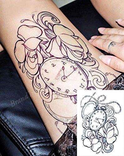 Extraíble Cuerpo Arte Tatuajes Temporales Pegatinas Reloj De