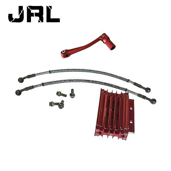 jrl Temperatura de aceite de aluminio Set Radiador de refrigeración palanca de cambio para 125 CC ATV Dirt Pit Bike: Amazon.es: Coche y moto