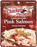 Chicken of the Sea Pink Salmon Skinless/Boneless Pouch, 5-Ounce Pouches (Pack of 12)