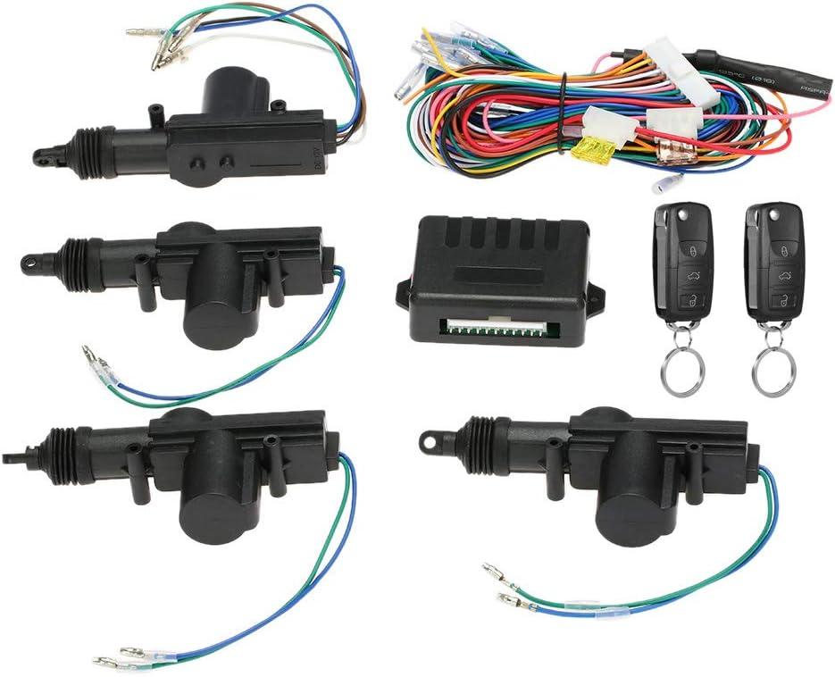 KKmoon 12V Cierre Centralizado Universal Coche, Cerradura Central Remota de Coche, con Botón de liberación del tronco