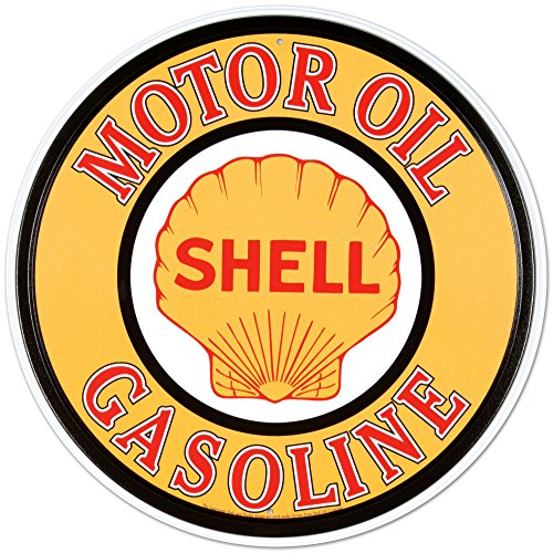 Shell Gas & Oil Tin Sign 12 x 12in (Shell Gas Sign compare prices)