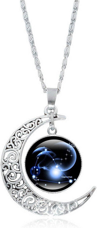 yunshenbuzhichu Collar de la joyería Creativa de ensue Luna Plateada señora de Las Mujeres Tiempo de Piedra Collar Colgante de la Princesa