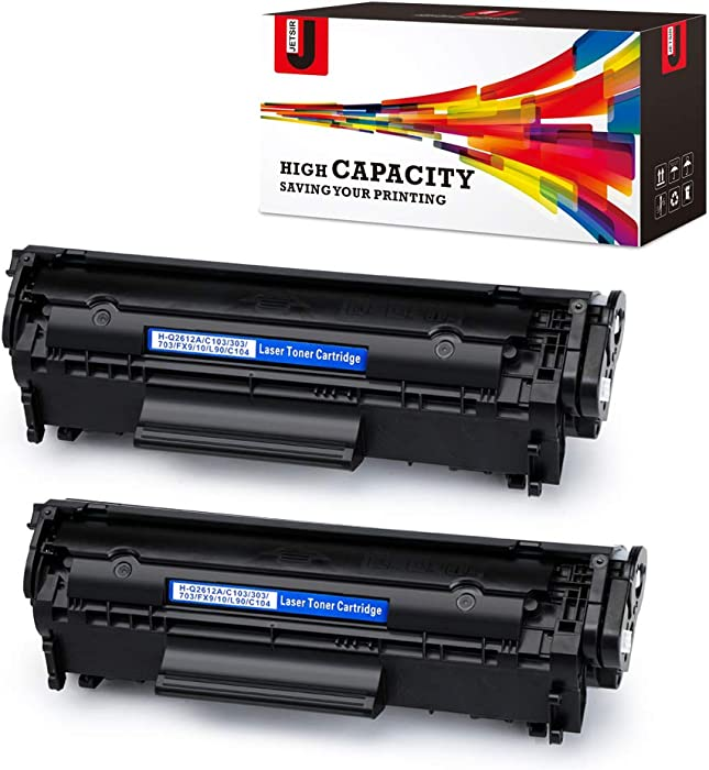JetSir Compatible Toner Cartridge Replacement for HP 12A Q2612A(2-Pack),Use on HP Laserjet 1020 1012 1022 1010 1018 1022n 3015 3030 3050 3052 3055 M1319F Printer