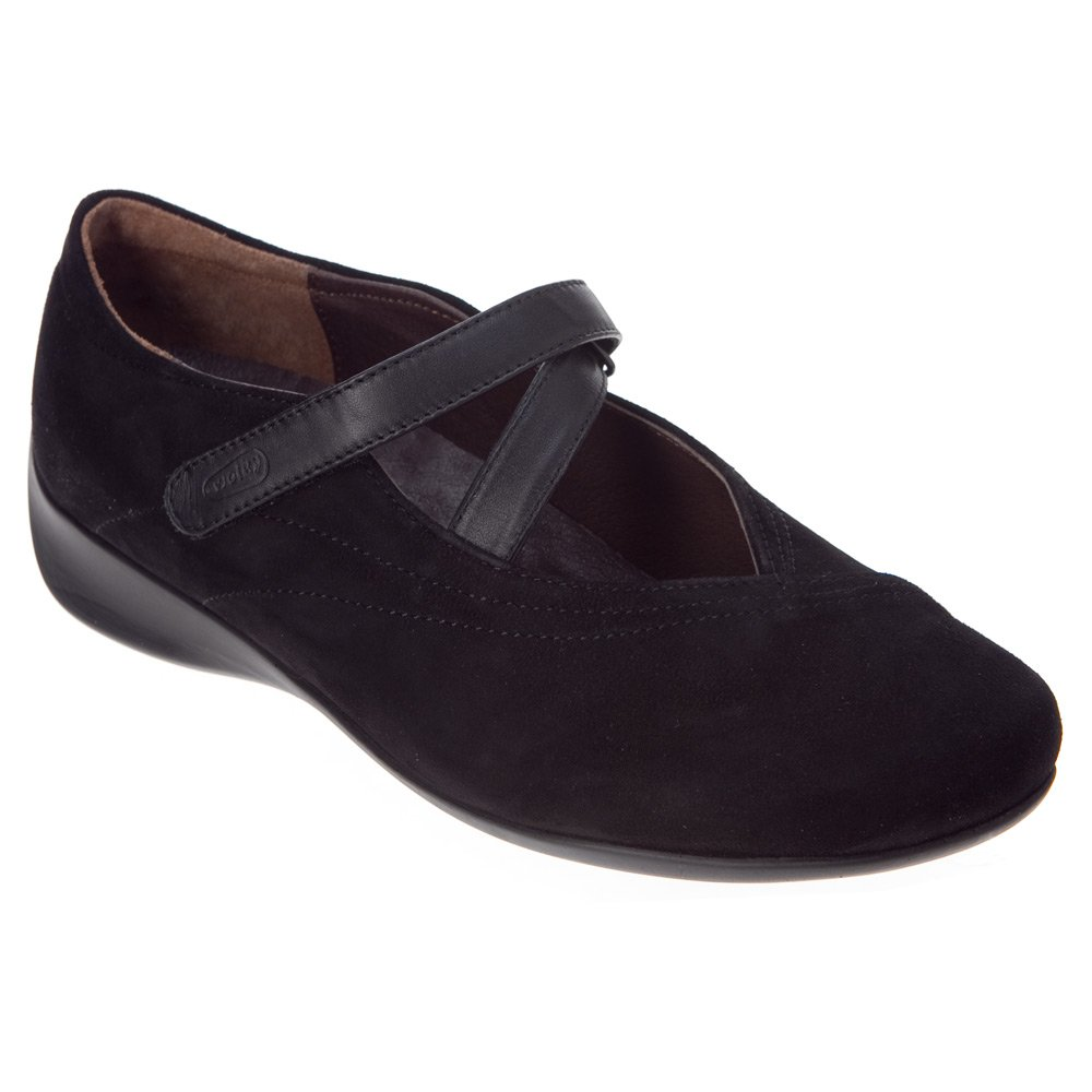 Wolky Comfort Mary Janes Silky B004D43S4E 38 M EU|Black Goat Suede