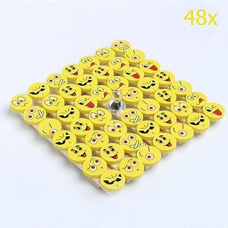 Chsyoo 48 Stucke Emoji Smiley Radiergummi Set Mitbringsel Geschenk