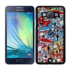 Funda carcasa para Samsung Galaxy A5 diseño sticker bomb, bomba de pegatinas modelo 1 borde negro