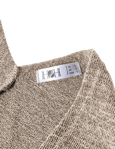 H2H Women's Winter Knitted Cashmere Poncho Capes Shawl Cardigans Sweater Coat Beige US L/Asia L (CWOCASL02) by H2H (Image #6)