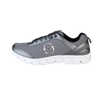 Chaussures de Tennis Basses à Lacets Semelle Crantée Gris Homme - Tacchini 8cf776cd445d
