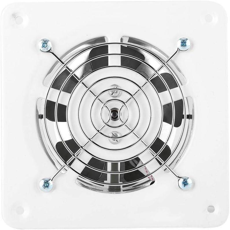 Ventilación de aire de 4 pulgadas para el hogar, montaje en pared ventilador de escape súper silencioso para el hogar baño cocina garaje ventilación 25 W 220 V
