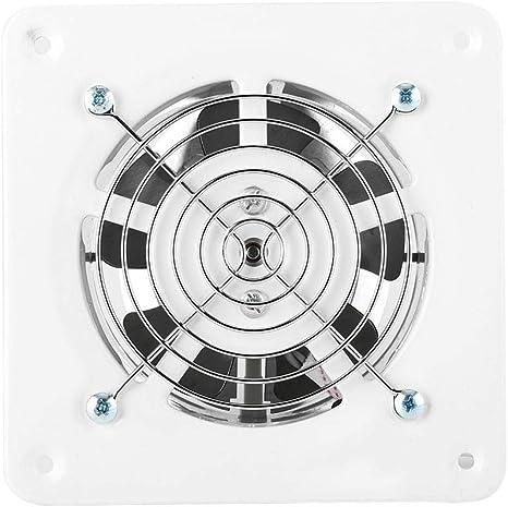Ventilateur dExtraction 4 Pouce Extracteur dair Ventilation Murale Silent pour Salle de Bain Garage Cuisine 12W 220~240 V 130m/³ H D/ébit dair et 34dB