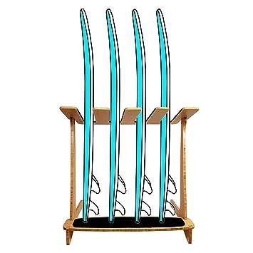 Grassracks - Estante Vertical de bambú para 4 Tablas de Surf (Tablas ...