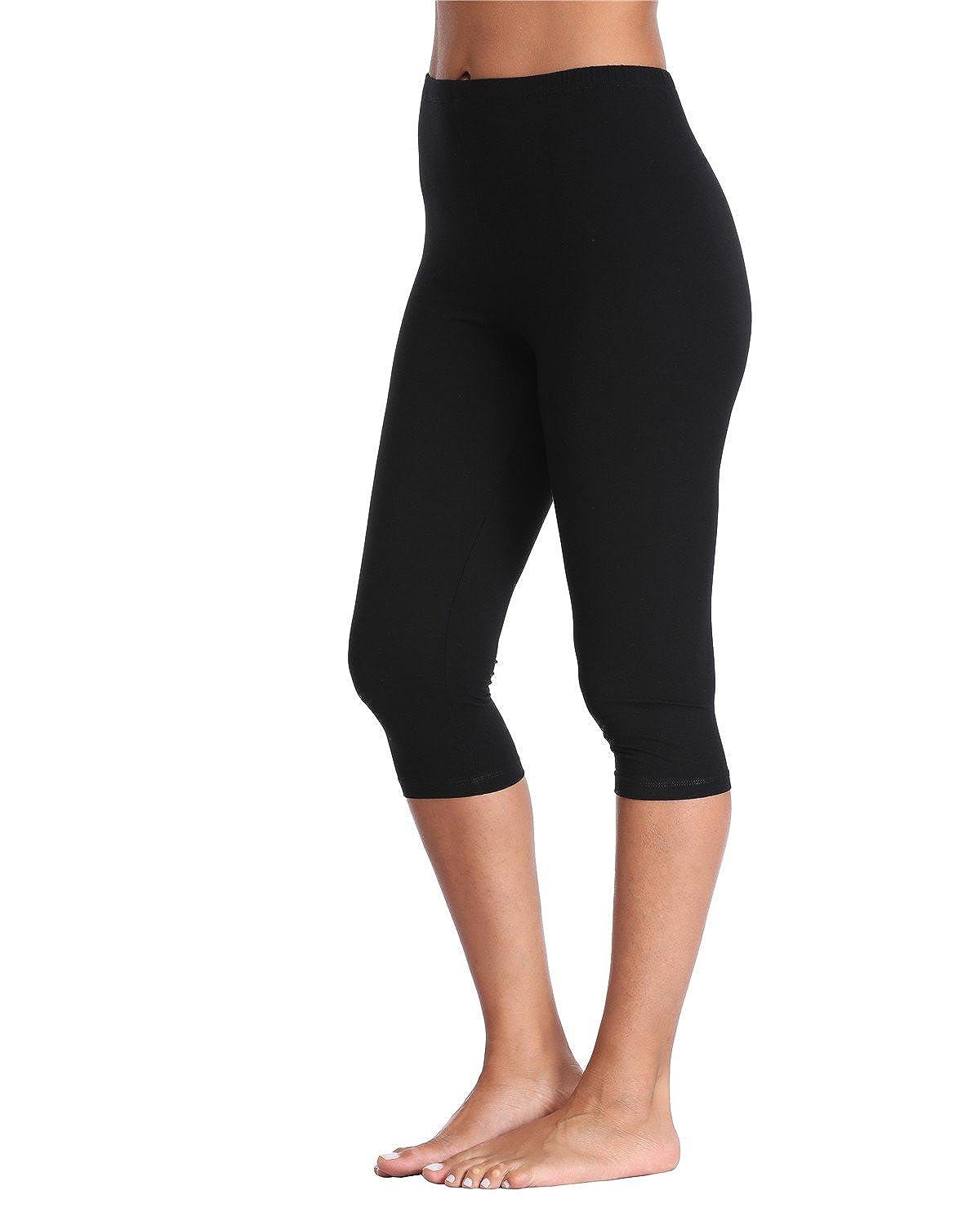 3bfec22f4 Kotii Women s Soft Capri Leggings Crop Leggings 3 4 Stretch Yoga Pants   Amazon.ca  Clothing   Accessories