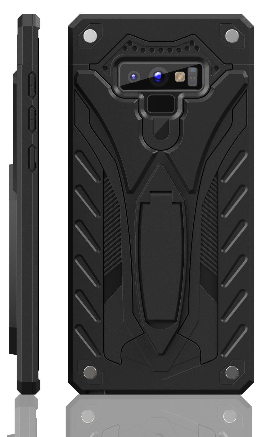 Samsung Galaxy Note 9 Case   Military Grade   12ft. Drop Tested Protective Case   Kickstand   Wireless Charging   Compatible with Galaxy Note 9 - Black