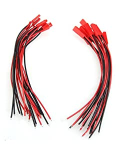 SODIAL(R) 10 pares 150mm JST conector Cable Enchufe macho hembra por RC helicoptero