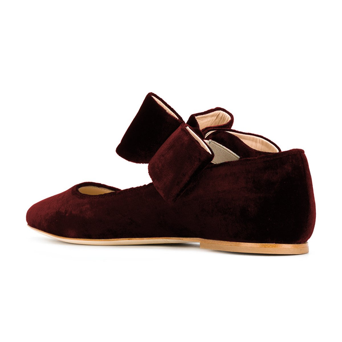 FSJ Women Cute Pointed Toe Flats With Bowknot Velvet Low Shoes Heels Slip On Comfy Shoes Low Size 4-15 US B076Q8R3HV 10 B(M) US|Wine 433030