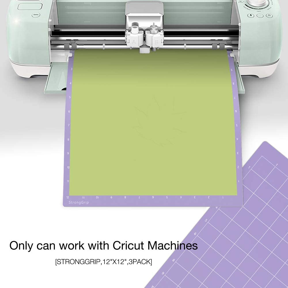 Nicapa StandardGrip Cutting Mat for Cricut Explore Air 2 Maker 12x12 inch,5 Mats Standard Adhesive Sticky Sheet Green Quilting Cricket Cut Mats Replacement Accessories for Cricut