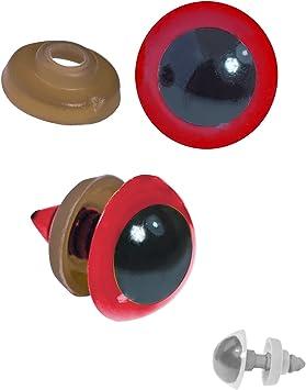 Teddies 20 Paar Sicherheits-Augen 16mm Puppen Kunststoff Amigurumi Farbwahl