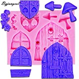 Star-Trade-Inc - M302 Wooden Window Door Shaping 3D Molds Silicone Mold Soap Candle Molds Sugar Craft Tools Chocolate Molds Bakeware