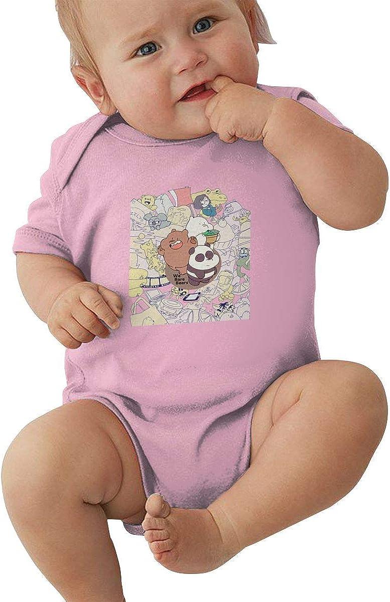 EVE JOHN We Bare Bears TV Baby Girl T Shirt Summer Black