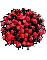 Txibi 200PCS 360 Degree Adjustable Irrigation Drippers Sprinklers Emitters Drip Watering System for Flower beds, Vegetable Gardens, Lawn, Herbs Gardens
