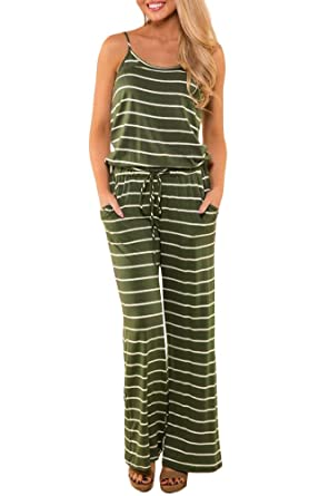 6b028aca2d5a Amazon.com  For G and PL Women Spaghetti Strap Long Pant Jumpsuit Rompers   Clothing